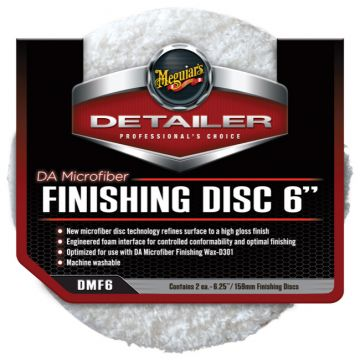 Meguiar's® DMF6 DA Microfiber Finishing Disc - 6 inch (2 pack)