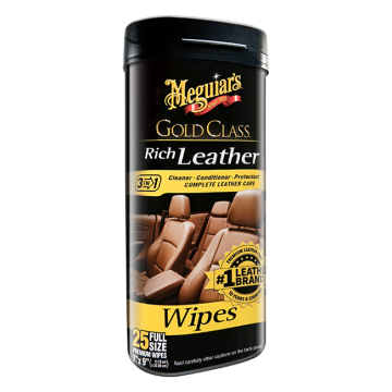 Meguiar's® Gold Class™ Rich Leather Cleaner & Conditioner Wipes