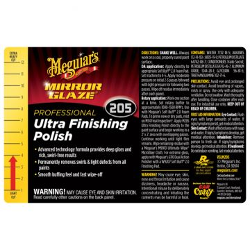 Meguiar's® Secondary Label - M205 Mirror Glaze® Ultra Finishing Polish