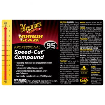 Meguiar's® Secondary Label - M95 Mirror Glaze® Speed Cut™ Compound