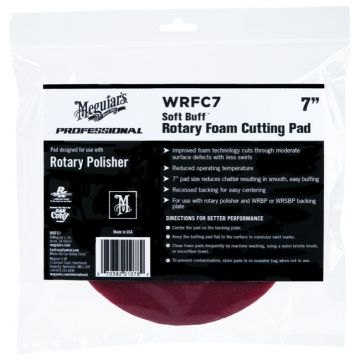 Meguiar's® Soft Buff™ Rotary Foam Cutting Pad - 7 inch